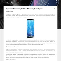 Key Factors Determining the Price of Samsung Phone Repairs