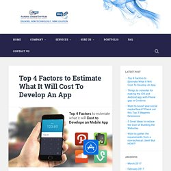 Top 4 Factors to Estimate What It Will Cost To Develop An App
