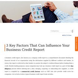 3 Key Factors That Can Influence Your Business Credit Report