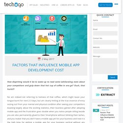 Factors That Influence Mobile App Development Cost