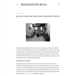 Key Factors That Influence Property Prices