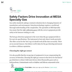 Safety Factors Drive Innovation at MESA Specialty Gas
