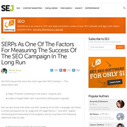 SERPs As One Of The Factors For Measuring The Success Of The SEO Campaign In The Long Run