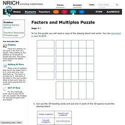 Factors and Multiples Puzzle