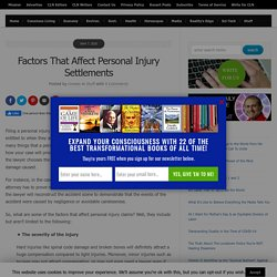 Factors That Affect Personal Injury Settlements