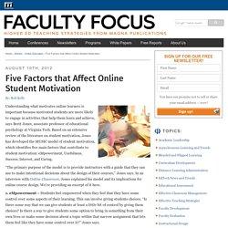 Five Factors that Affect Online Student Motivation