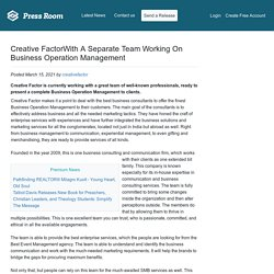 Creative FactorWith A Separate Team Working On Business Operation Management