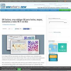 QR Factory, crea códigos QR para textos, mapas, contactos y redes Wi-Fi en Mac