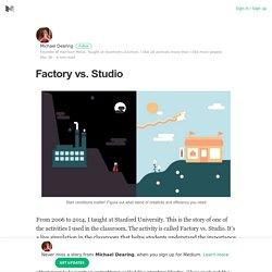 Factory vs. Studio – Michael Dearing – Medium