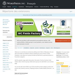 WC Fields Factory — WordPress Plugins