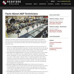 Facts about A&P Technicians