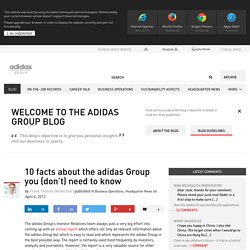 10 facts about the adidas Group you (don't) need to know - adidas Group blog