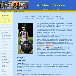 Facts about Ancient Greece for Kids