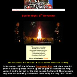 Facts about Bonfire Night in Britain