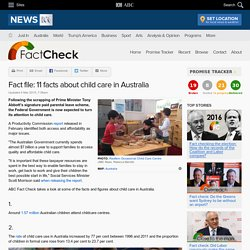 Fact file: 11 facts about child care in Australia - Fact Check