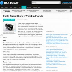 Facts About Disney World in Florida