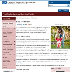 CDC - FASD, Facts about FASDs - NCBDDD