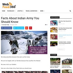 Facts About Indian Army You Should Know