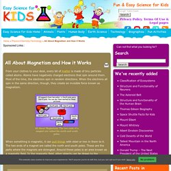 All About Magnetism and How it Works - Easy Science For Kids