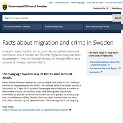 Facts about migration and crime in Sweden - Government.se