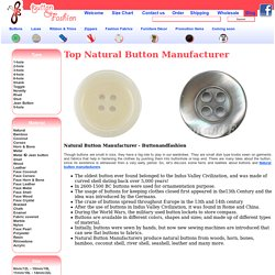 9 Facts About Natural Buttons You Never Know