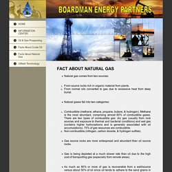 Facts About Natural Gas
