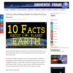 10 Facts About Planet Earth You May Not Have Known