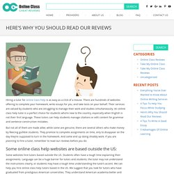 Facts About Reading Our Reviews