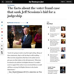 Facts about the voter fraud case that sank Jeff Sessions's bid for a judgeship