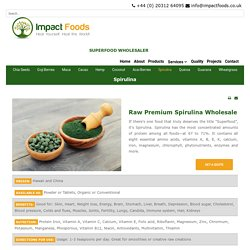 A Superfood Organic Spirulina