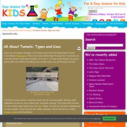 Facts About Tunnels: Types and Uses - Easy Science For Kids