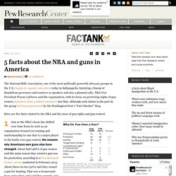5 facts about the NRA and guns in America