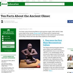 10 Facts About the Ancient Olmec in Mesoamerica