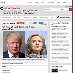Fun facts about Clinton and Trump – Lesson Plan