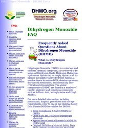 Facts About Dihydrogen Monoxide