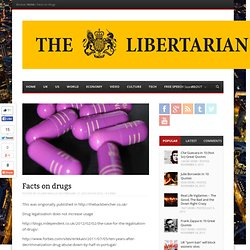 Facts on drugsThe Libertarian | The Libertarian