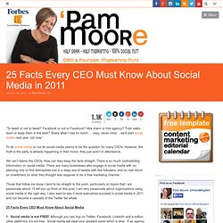 25 Facts Every CEO Must Know About Social Media in 2011 | Tampa Web Design Social Media Agency