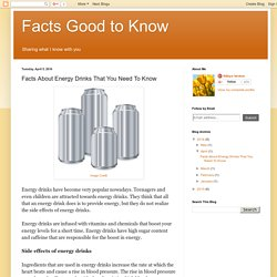 Facts About Energy Drinks That You Need To Know