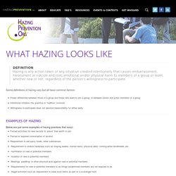 Facts: What Hazing Looks Like