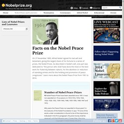 Facts on the Nobel Peace Prizes