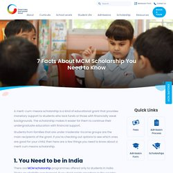 7 Facts About MCM Scholarship You Need to Know - GIIS Bangalore