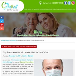 Top Facts You Should Know About COVID-19