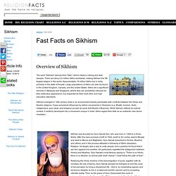 Fast Facts on Sikhism