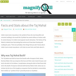 Facts and Stats about the Taj Mahal - Magnifyskill