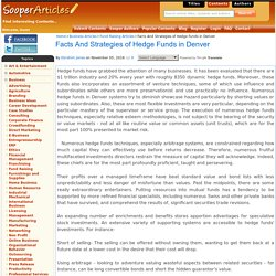 Facts And Strategies of Hedge Funds in Denver
