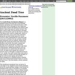 Ancient Food Tree Factsheet - Gardening Australia - ABC