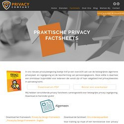 gratis factsheets Privacycompany