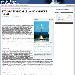 Factsheets : EVOLVED EXPENDABLE LAUNCH VEHICLE (EELV)