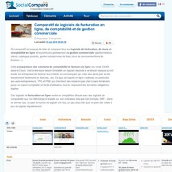 Comparatif de logiciels de facturation en ligne, de comptabilité et de gestion commerciale