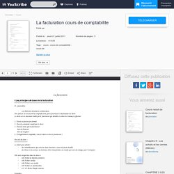 La facturation cours de comptabilite - Cours - youscribe.com